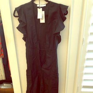 ASTR black linen dress